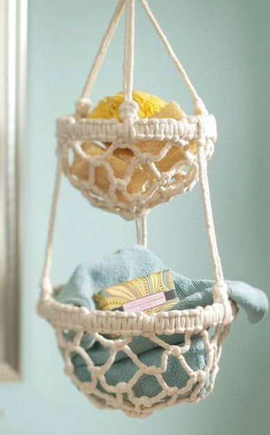 It's no wonder that this DIY Macrame Hanging Basket is trending! With a boho feel, this homemade storage decoration gives a whole new meaning to stylish organization.