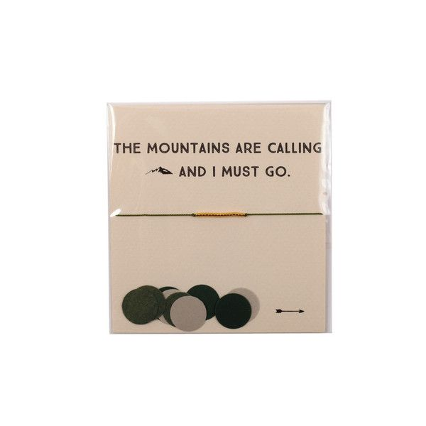 The Reminder Bracelet ~ The Mountains are Calling and I must Go by Mai Lin Jewelry