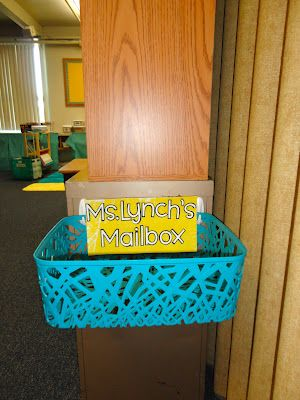 """Tales from a First Year Teacher: August 2012 Great idea- Teacher Mailbox for all of the little things that would otherwise clutter up a desk...I also want some type of """"comment box"""" in case kids have feedback or want to share something."""