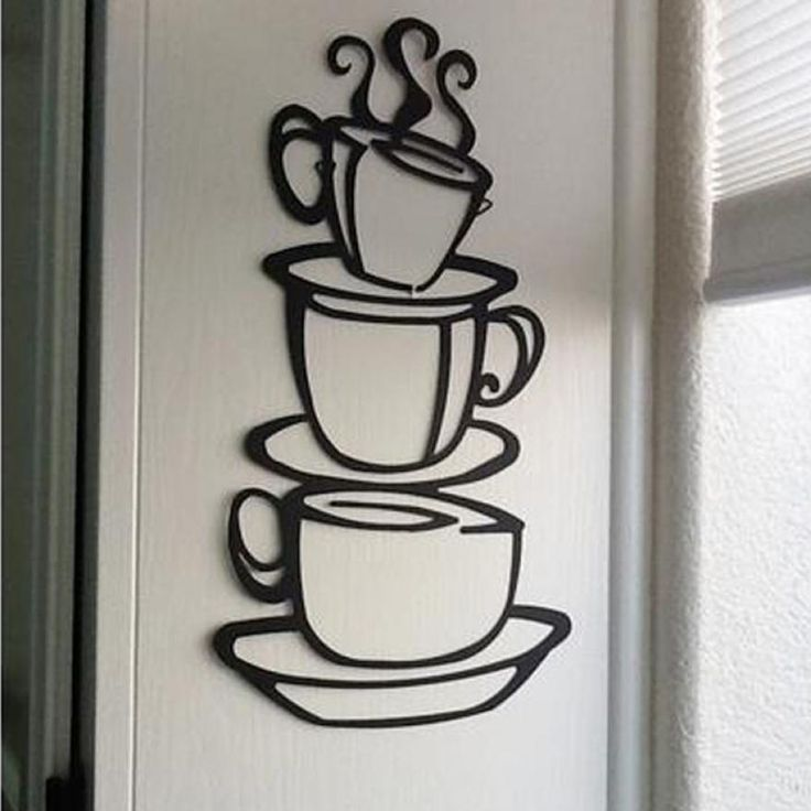Kitchen Coffee Cup Wall Sticker //Price: $8.82 & FREE Shipping //     #stickers