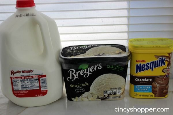 CopyCat Wendy�s Frosty Recipe_(Yield 2- 9 oz Frosty's) INGREDIENTS 1/3 cup Milk 5 tsp Nesquik Powder 2 cups Vanilla Ice Cream