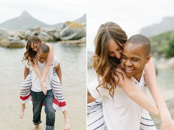 jaclyn & sifiso's cape town beach engagement shoot