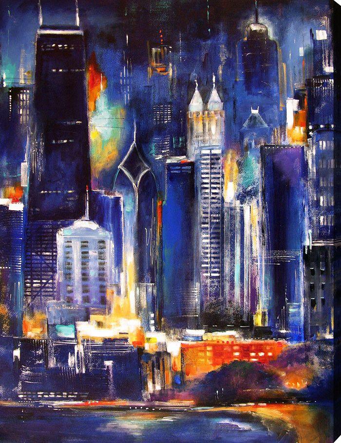 chicago skyline art - photo #4