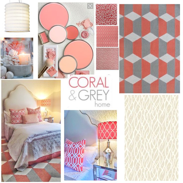 Master bedroom make-over.  This is how to give neutral colours a subtle jolt.  For a classic sophisticated look try pairing coral with a classic grey