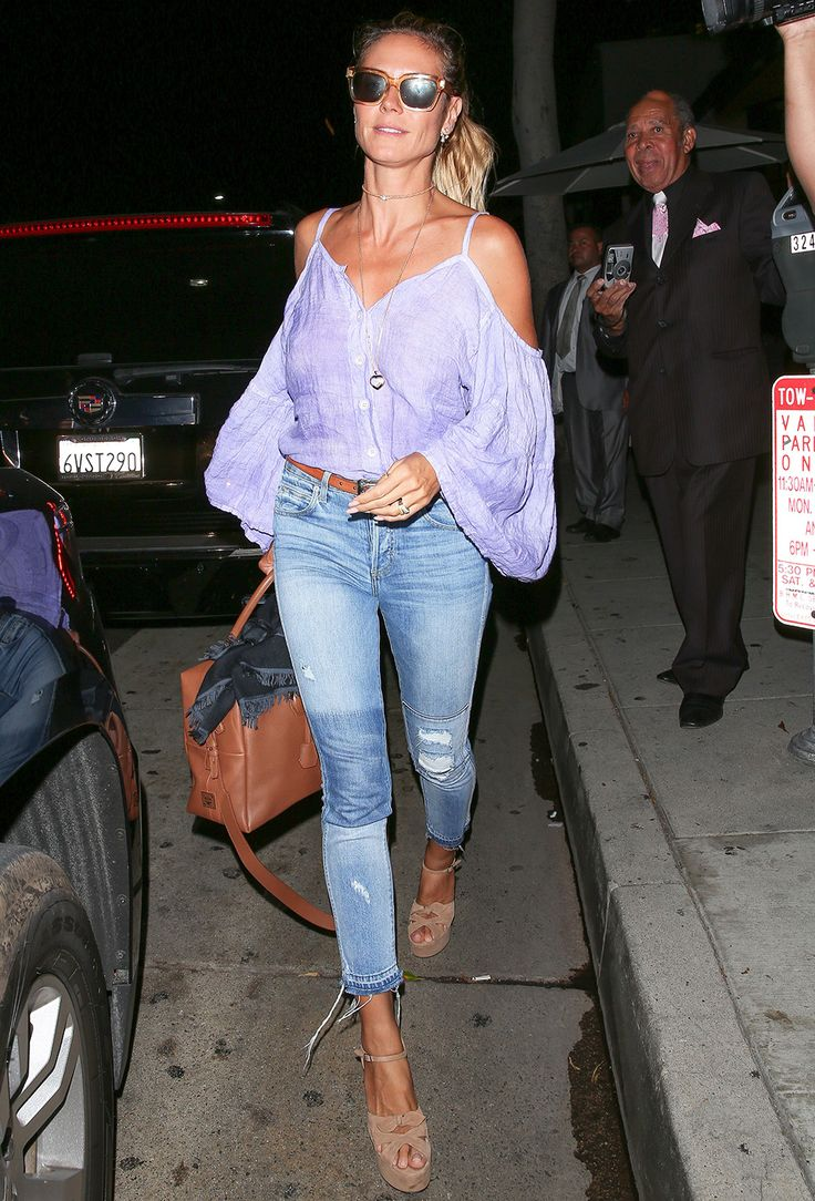 Heidi Klum Sizzles in Summery Boho Ensemble While Enjoying Family Dinner with Kids from InStyle.com