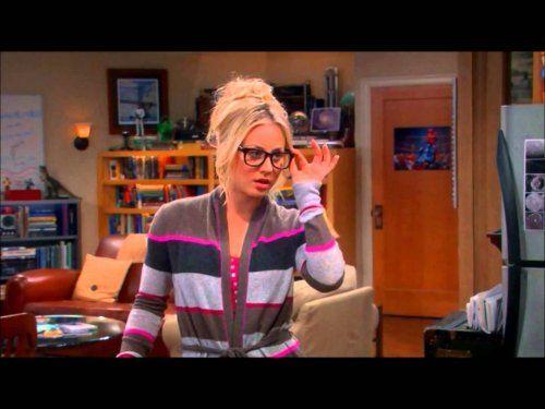 Penny as a sexy librarian. Love the sweater   The Big Bang Theory [Теория Большого Взрыва]