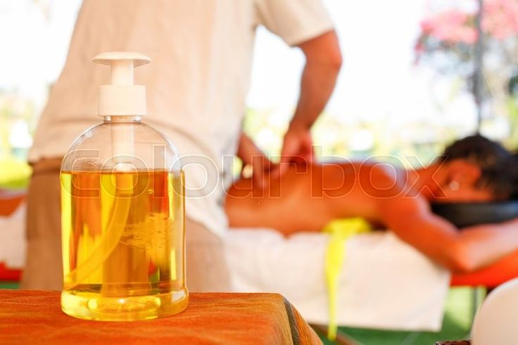 Massage oil for theraphy at beach resort   Stock Photo   Colourbox on Colourbox
