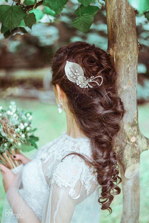 Bridal Hair Comb Hairpiece Headpiece Accessory Silver