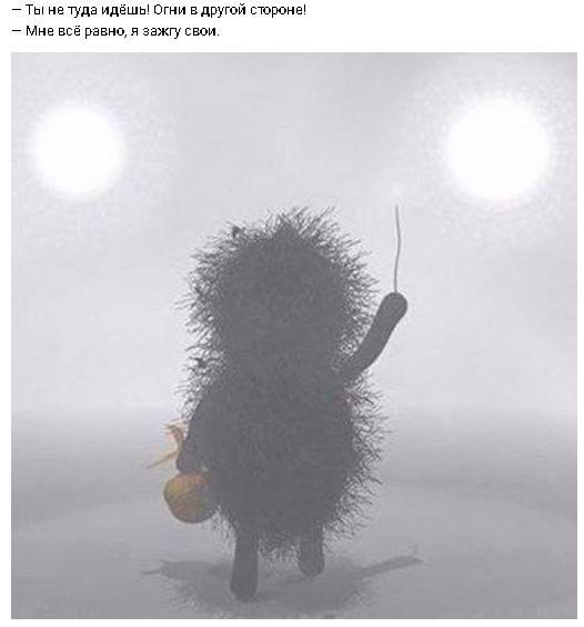 Ёжик в тумане, цитата