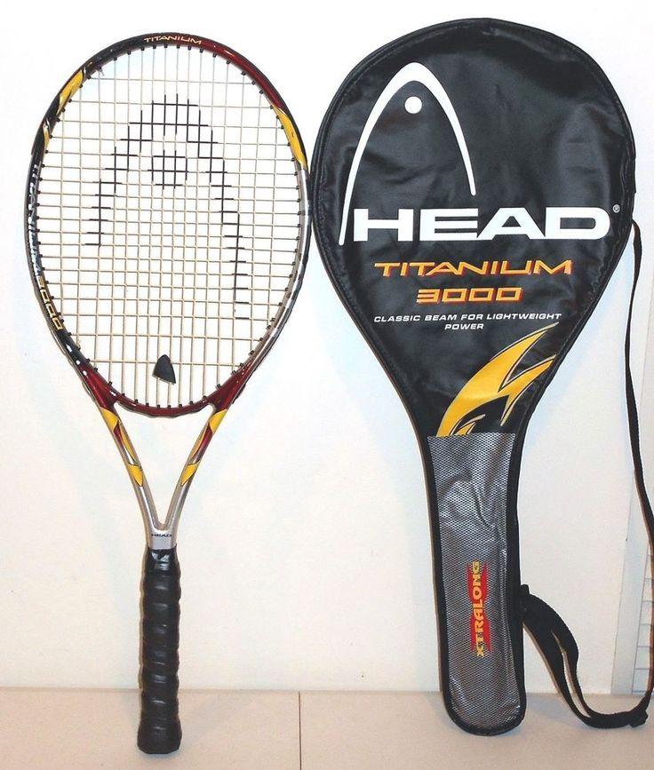 Head Titanium 3000 Oversize Tennis Racquet & Case Grip 4 5