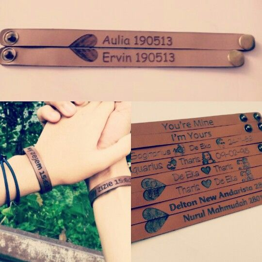 Gelang kulit custom / couple