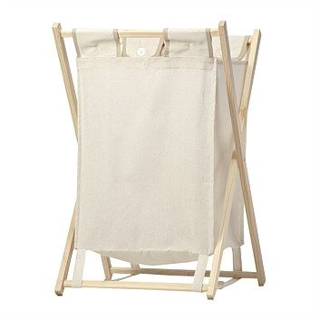 Wooden Folding Laundry Hamper - $20. A few of these in a row would look nice in the laundry