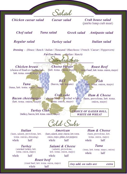 Best Menus Images On   Sample Menu Cooking Recipes