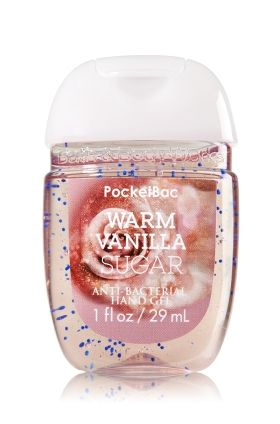 Warm Vanilla Sugar - PocketBac Sanitizing Hand Gel - Bath & Body Works - Now with more happy! NEW PocketBac is perfectly shaped for pockets & purses, making it easy to fight germs on-the-go! Plus, our all-new skin softening formula contains powerful germ-killers that keep your hands clean & soft.
