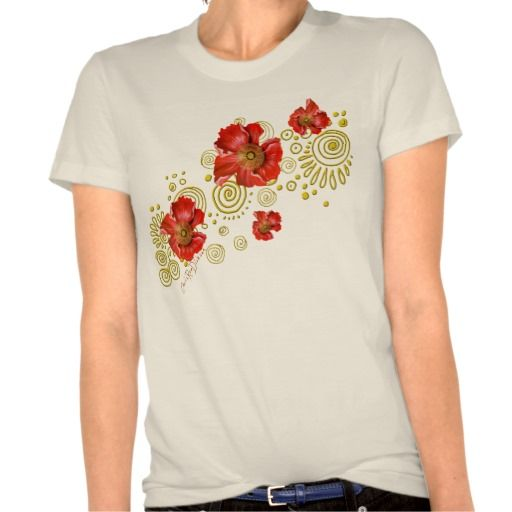 Organic Red Poppy Designer Tees at $45.95 and makes an excellent gift for your BFF!