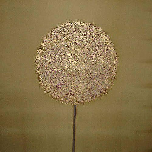 hand painted silk on canvas - golden allium by victoria wornum designs | notonthehighstreet.com