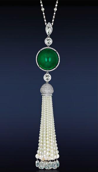 Jacob & Co., Emerald Tassel Necklace