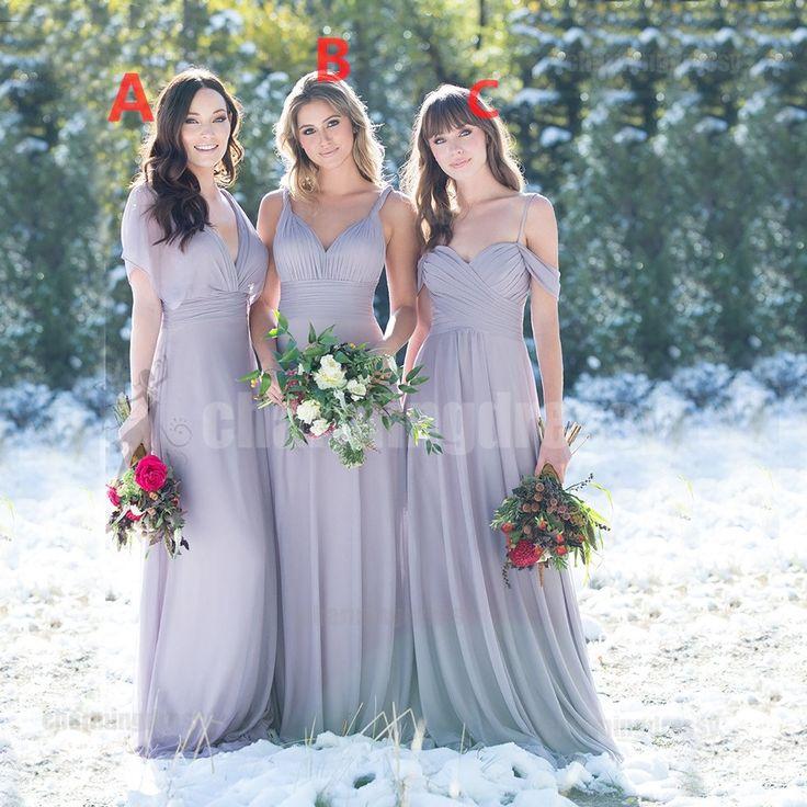 Mismatched Chiffon Cheap Newest Soft Bridesmaid Dresses Dress Popular Wedding Guest