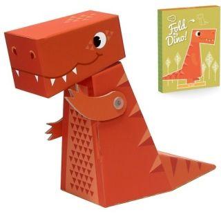 Κατασκευάστε την τρισδιάστατη φιγούρα του T-Rex της εταιρείας Kroom, την οποία μπορείτε να χρησιμοποιήσετε ως φιγούρα παιχνιδιού αλλά και ως διακοσμητικό για το δωμάτιο! Κατασκευασμένο από χοντρό πεπιεσμένο χαρτόνι. Κατάλληλο από 4 ετών άνω.