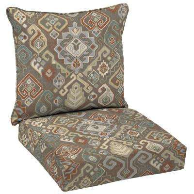 Southwestern Saddle Deep Seating Outdoor Lounge Chair Cushion