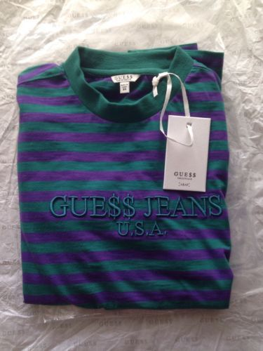 9d63a330fd Guess x Asap Rocky Striped Shirt Green Purple Xs Gue   Jeans USA  rare