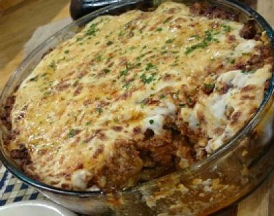 Lasagna de berenjenas y papas a la griega / Cocineros Argentinos