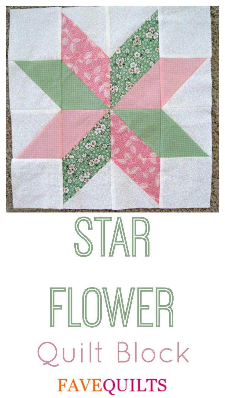 63 best images about 23 quilt blocks on Pinterest | Quilt, Bed ... : star flower quilt block pattern - Adamdwight.com