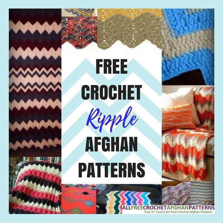 Mejores 172 imágenes de Crochet Ripple Patterns en Pinterest ...