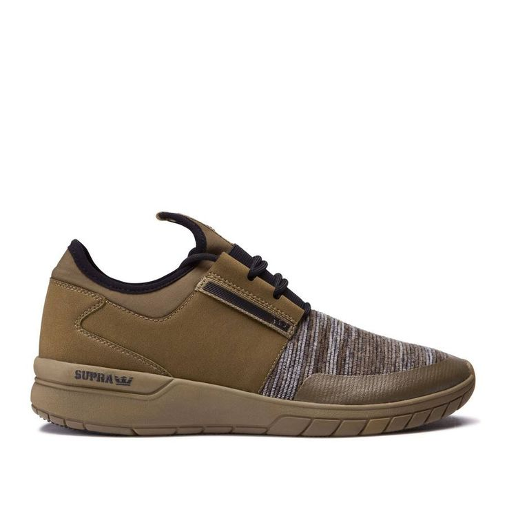 Best pick for a sporty-casual autumn >> Flow Run Olive from Supra Footwear, freshly arrived online and in store