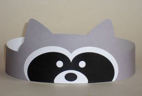 Raccoon Crown  Printable van PutACrownOnIt op Etsy, $2.00