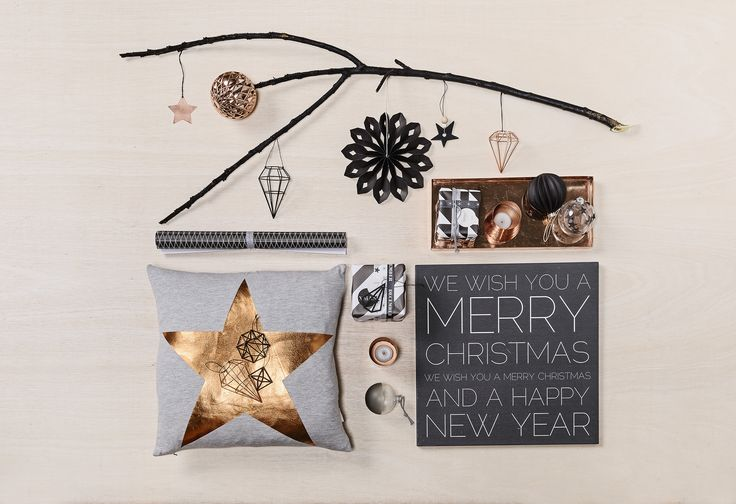 Beautiful Christmas ornaments and copper details from Bloomingville.