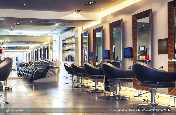 Get your hair done in a nicely lit room. Flexfire LEDs UltraBright Architectural Series making the cut with its warm white colors. www.flexfireleds.com #barbershop