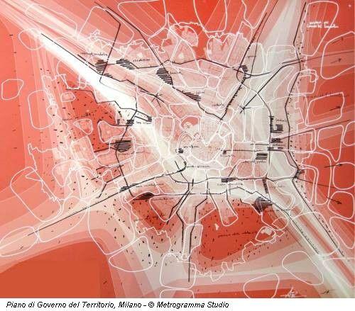 Piano di Governo del Territorio, Milano   Government Plan of the Territory, Milan - © Metrogramma Studio   research map   urban planning
