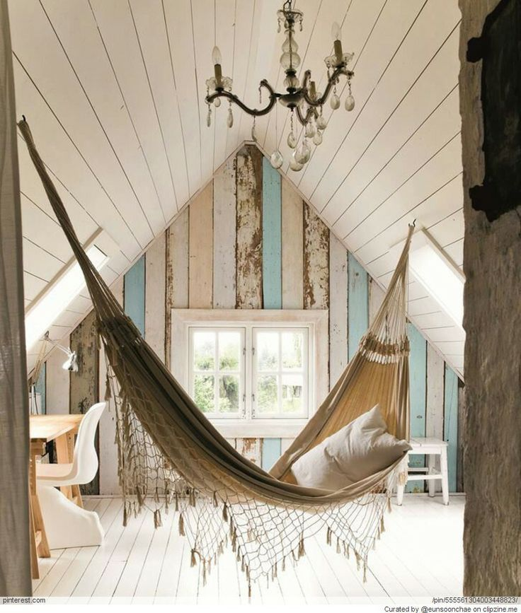 I would love to do this for a teenage daughter to have an escape from the world. No technology, though. Books, a guitar, writing/art supplies. Whatever she needs to have a creative place of her own.