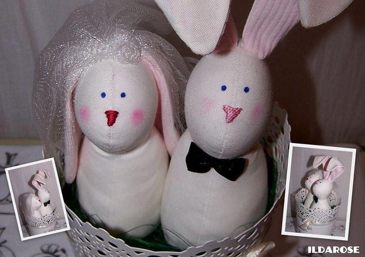 Tilda bunnies - bride and groom Ildarose - Follow me on Facebook and Instagram