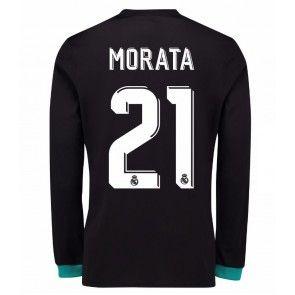 Real Madrid Alvaro Morata 21 Venkovní Dres 17-18 Dlouhý Rukáv