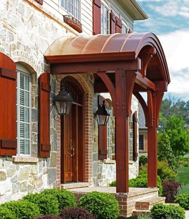 HappyModern.RU | Как сделать козырек над крыльцом (61 фото): создаем красивый вход в дом | http://happymodern.ru