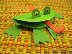 frog crafts - have done this one and variations of it every year - the kids love it! - especially when we use blowers for the tongue!!!