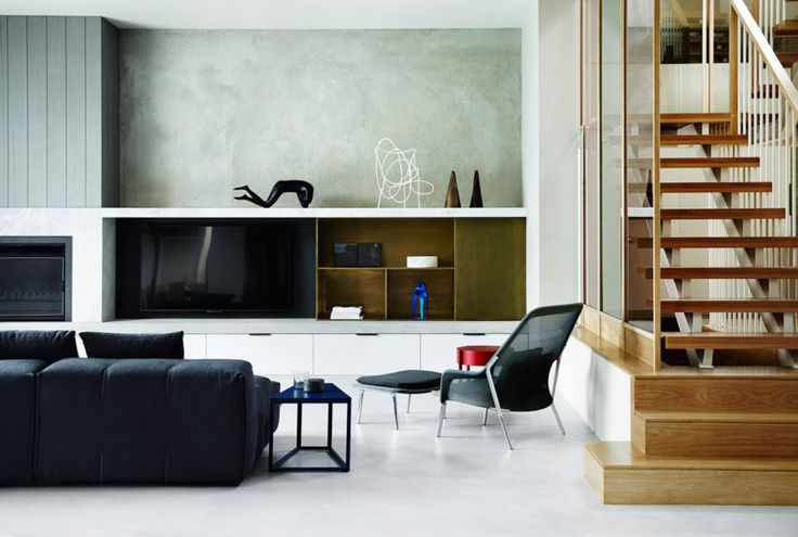 10 Modern Rooms Thoughtfully Designed with the TV in Mind - Design Milk