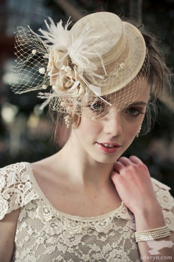 Wedding Day Mini Top Hat by BelleMillinery on Etsy, $150.00