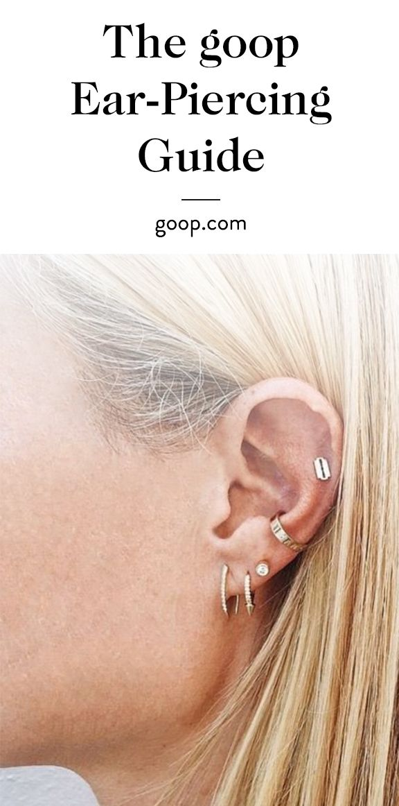 The goop Ear-Piercing—and Small Gold Earring—Guide