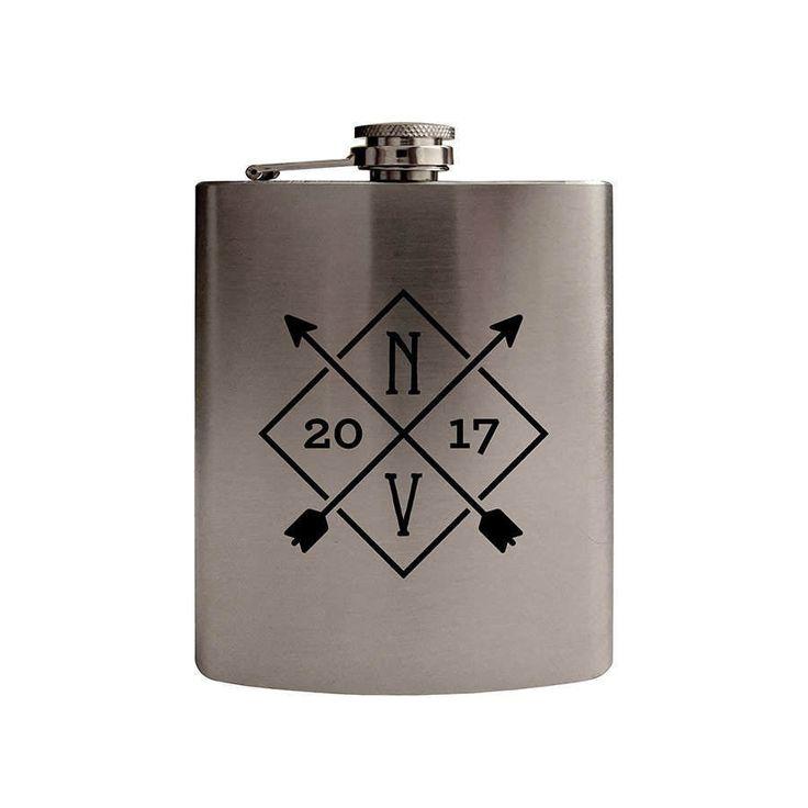 Silberflasche, benutzerdefinierte Flasche, 60. Geburtstagsgeschenk, 5. Geburtstagsgeschenk, bester Freund, Hochzeit Registrierung   – Personalized wedding gift
