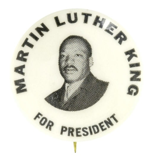 Martin Luther King for President, 1968 button: 1968 Buttons H, 1968 Buttons On, King Buttons, Antiques Buttons, Martin Luther, Campaigns Buttons, Black History, Politics Buttons, Luther King