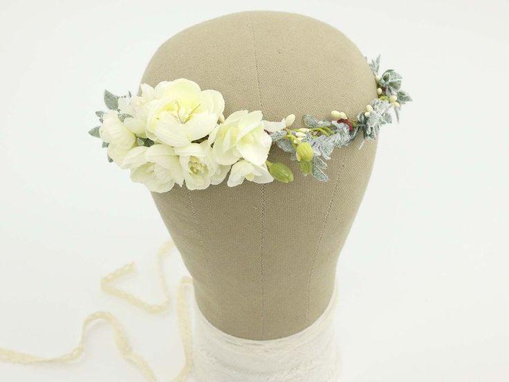 ♥ Kwiatowy wianek na głowę ♥ - LolaWhite - Kwiaty do włosów