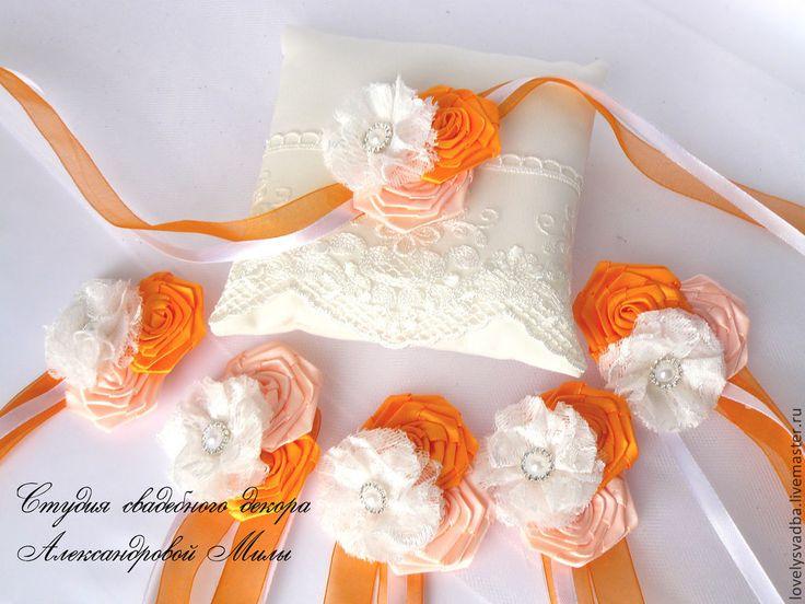 """Купить Браслеты для подружек невесты """"Оранж"""" - оранжевый, браслеты для подружек, подружкам невесты, подружкам"""