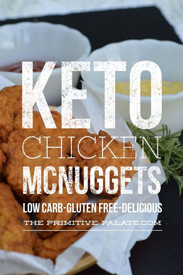 Zero Carb Copy Cat McDonalds Chicken McNuggets. Crispy & Juicy with your favorite sugar-free dipping sauce!