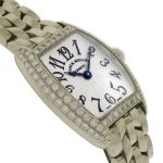 Women's 18k White Gold & Diamond Franck Muller Cintree Curvex. Click for size & details: http://www.palisadejewelers.com/portfolio/cintree-curvex-2251-qz-d/