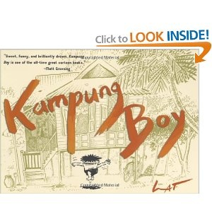 "A wonderful book from Malaysia's top cartoonist Lat. It's a completely universal story about childhood, yet it also captures a unique time and place, life in the country in Malaysia in the 1950s. Very accesible for all ages. Lat's style of cartooning is oddly similar to American ""Mad"" cartoonist Sergio Aragones, but that's not a bad thing. There's also a sequel, ""Town Boy""."