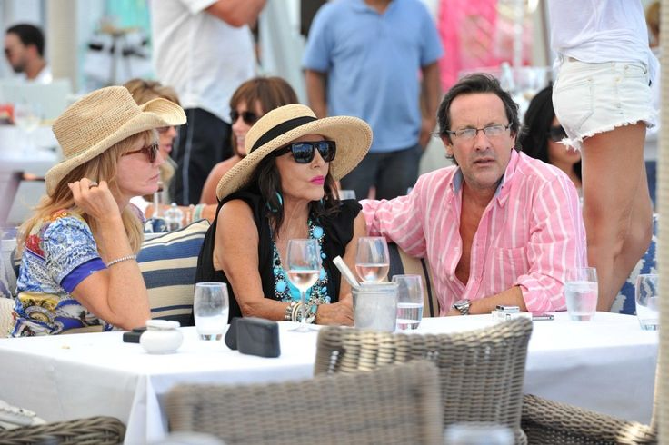 Joan Collins Percy Gibson Photos - Joan Collins and Percy Gibson dine at the Bagatelle Beach. - Joan Collins and Percy Gibson Photos - 46 of 263