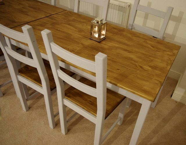 farmhouse table from cheap ikea ingo